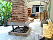 Communal living area with fire pit